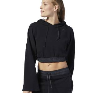 Reebok LES MILLS® Women's Studio Lightweight Hoodie in Black