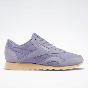 Reebok Classic Nylon Women's Retro Running Shoes in Violet Haze