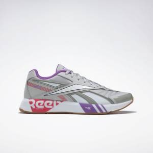 Reebok Unisex Retro Running Shoes Futsal Fusion R58 in Skull Grey