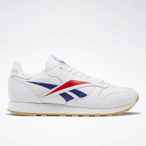 Reebok Classic Leather Vector Men's Lifestyle Shoes in White / Red / Blue