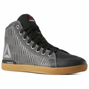 Reebok POWER LITE MID Men's Training Shoes in Black / Silver