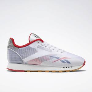 Reebok Classic Leather ATI Unisex Lifestyle Shoes in White / Blue