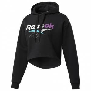 Reebok Classics V Alter the Icons Women's Lifestyle Cropped Hoodie in Black