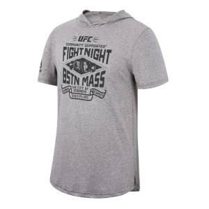 Reebok UFC Fight Night Boston Men's Tee Hoodie in Grey