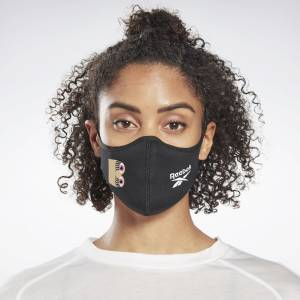 Reebok Cardi B Unisex Launch Face Cover in Black