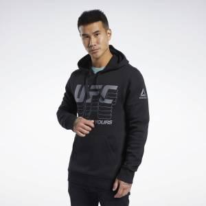 Reebok Men's UFC Fan Gear Hoodie in Black
