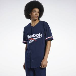 Reebok Classics Men's Lifestyle Baseball Jersey in Navy