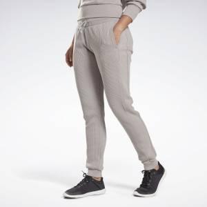Reebok Women's Studio Joggers Pants in Grey