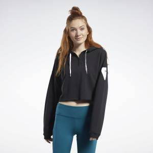 Reebok Meet You There Women's Cropped Hoodie in Black