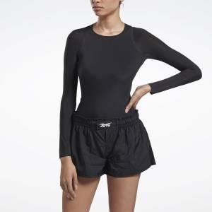 Reebok VB Women's Training Long Sleeve Bodysuit in Black