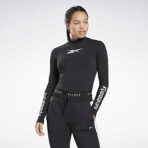 Reebok Vector Long Sleeve Women's Studio Tee in Black