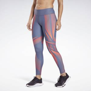 Reebok Lux Bold 2 Women's Studio High-Rise Leggings in Smoky Indigo