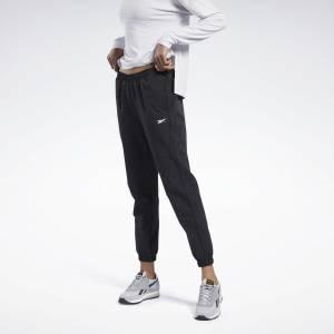 Reebok Women's Training Stretch Woven Pants in Black