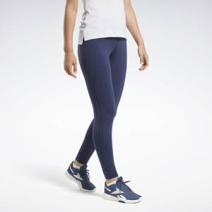Reebok Lux Women's Training High-Rise Tights 2.0 in Navy
