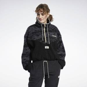 Reebok Classics Women's Winter Escape Fleece Jacket in Black