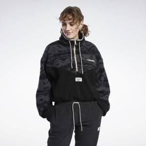 Reebok Classics Women's Winter Escape Fleece Jacket in Black
