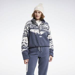 Reebok Classics Women's Winter Escape Fleece Jacket in Smoky Indigo