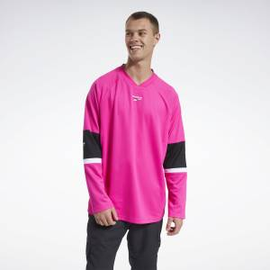 Reebok Men's Classics Hockey Jersey in Pink