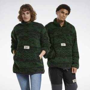 Reebok Unisex Classics Winter Escape Reversible Jacket in Utility Green