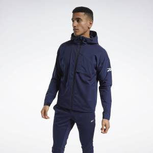 Reebok United By Fitness Men's Training Winterized Jacket in Navy