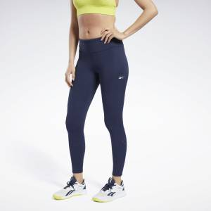 Reebok United By Fitness Women's Training Lux Perform Leggings in Navy