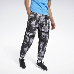 Reebok Men's Training MYT Jogger Pants in Black / White