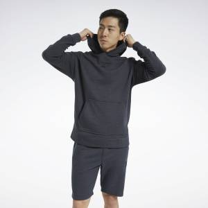 Reebok Training Essentials Men's Mélange Hoodie in Black