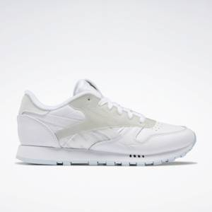 Reebok Women's Classic Leather ATI Running Shoes in White / Grey