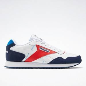 Reebok Men's Classic Harman Run Ripple Lifestyle Shoes in White / Navy
