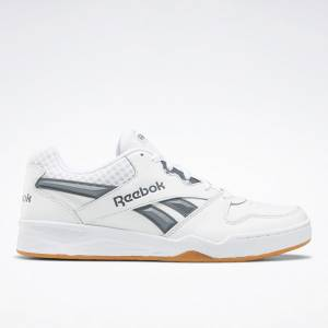 Reebok Men's Royal BB4500 Low 2 Basketball Shoes in White / Grey