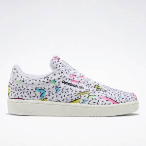 Reebok Club C 85 Women's Court Shoes in White / Electric Flash