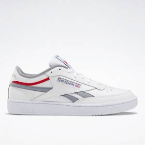 Reebok Men's Club C Revenge Court Shoes in White / Grey