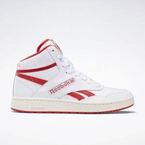 Reebok BB 4600 Unisex Basketball Shoes in White / Primal Red
