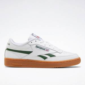 Reebok Men's Club C Revenge Court Shoes in White / Green / Gum