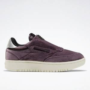 Reebok Club C Double Zip Women's Court Shoes in Midnight Shadow