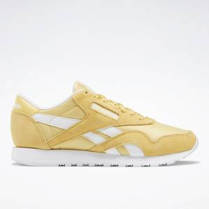 Reebok Classic Nylon Women's Lifestyle Shoes in Yellow