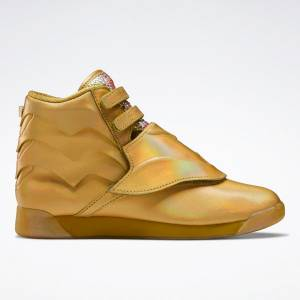 Reebok Freestyle Hi Women's Fitness Shoes in Gold