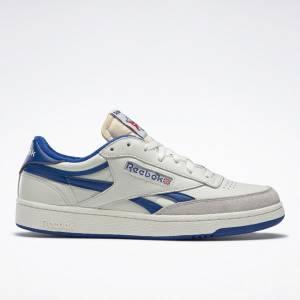 Reebok Club C Revenge Vintage Men's Court, Lifestyle Shoes in Chalk / Blue