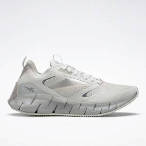 Reebok Women's Zig Kinetica Horizon Lifestyle Shoes in Light Grey