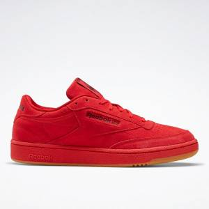 Reebok Club C 85 Men's Court Shoes in Red