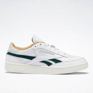 Reebok Men's Club C Revenge Court Shoes in White / Green