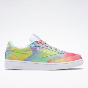 Reebok Unisex Club C 85 Pride Court Shoes in Multicolor