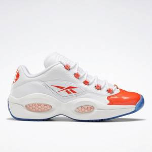 Reebok Unisex Question Low Basketball Shoes in White / Orange