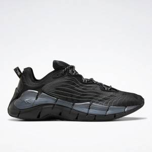 Reebok Unisex Zig Kinetica II Lifestyle Shoes in Black / Grey
