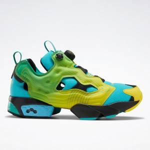 Reebok Unisex Chromat Instapump Fury Retro Running Shoes in Green
