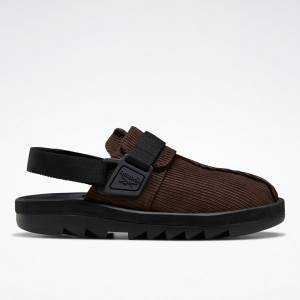 Reebok Unisex Beatnik Lifestyle Sandals Shoes in Dark Brown / Black