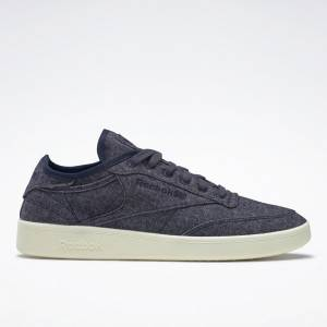 Reebok Unisex Club C Wool & Corn Court Shoes in Navy