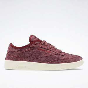 Reebok Unisex Club C Wool & Corn Court Shoes in Red