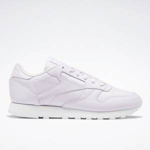 Reebok Classic Leather Women's Lifestyle Shoes in Luminous Lilac Purple