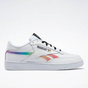 Reebok Unisex Club C Revenge Pride Court Shoes in White